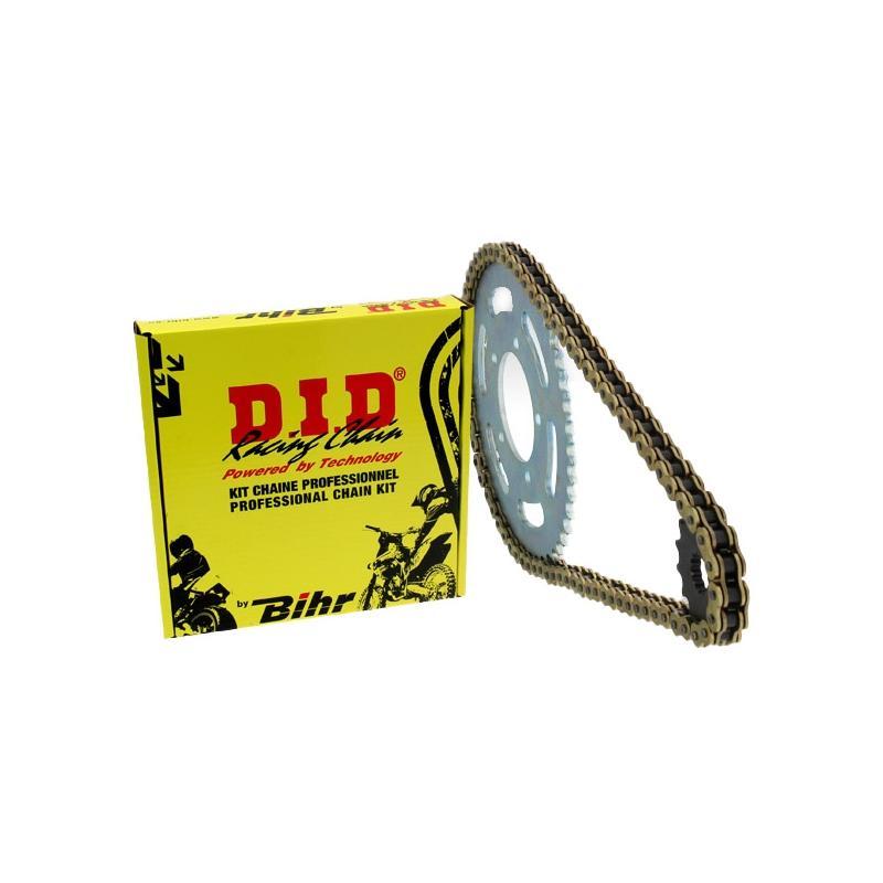 Kit chaîne DID 520 type VX2 17/42 couronne standard Aprilia 125 RX 95-00