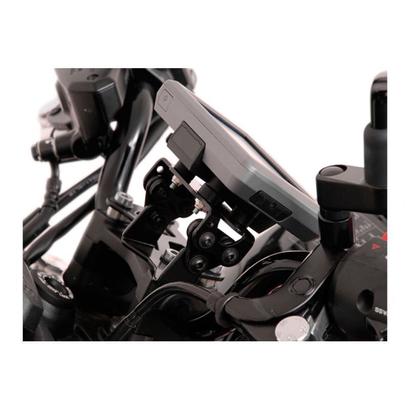 Kit d'adaptation Garmin Zumo 340/350/390/590/595/660 noir pour support GPS SW-MOTECH Nonshock / QUIC - 2