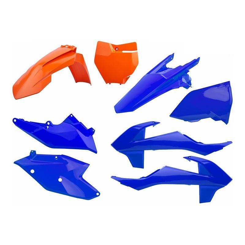 Kit plastique Polisport KTM 250 SX-F 16-18 orange/bleu
