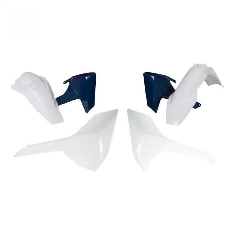 Kit plastique RTech Husqvarna 250 TE 17-19 bleu/blanc (couleur OEM 17-19)