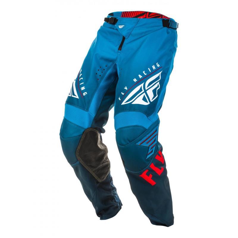Pantalon cross Fly Racing Kinetic K220 bleu/blanc/rouge