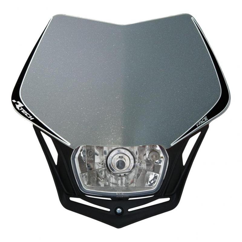 Plaque phare RTech V-Face grise et noire