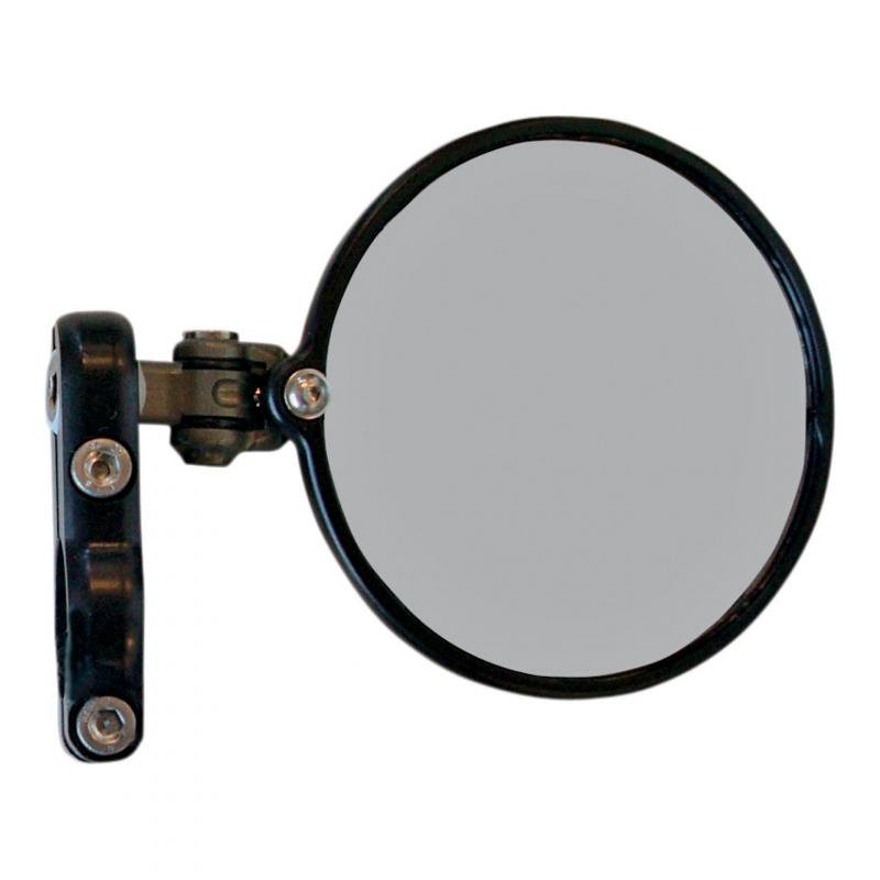 Rétroviseur latéral Droit Hindsight miroir rond Ø76mm rabattable (seul) noir