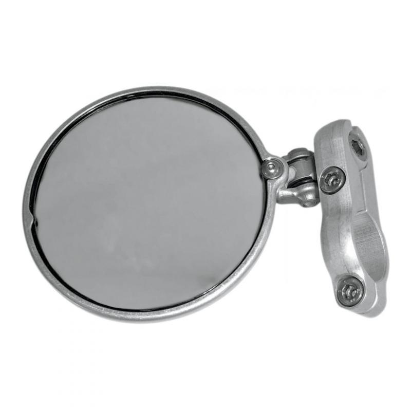 Rétroviseur latéral Gauche Hindsight miroir rond Ø76mm rabattable (seul) chrome
