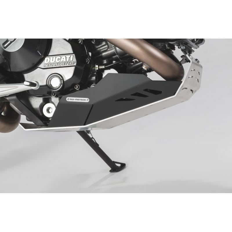 Sabot moteur SW-MOTECH noir / gris Ducati Hyperstrada / Hypermotard - 1