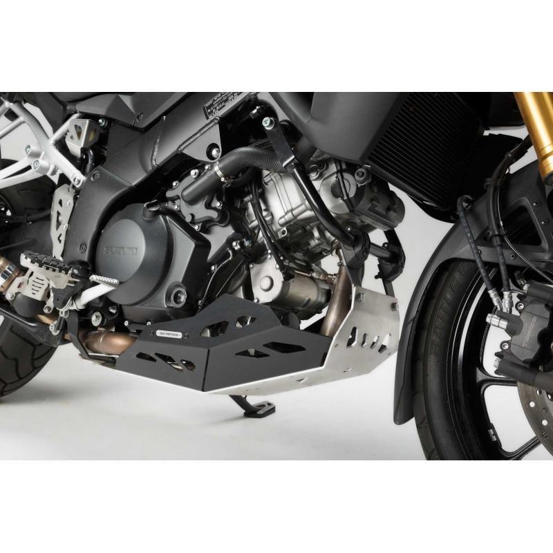 Sabot moteur SW-MOTECH sans barres de protection latérale noir / gris Suzuki V-Strom 1000 - 3