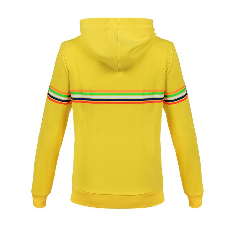 Sweat zip capuche femme VR46 Valentino Rossi Stripes jaune 2018 - 1