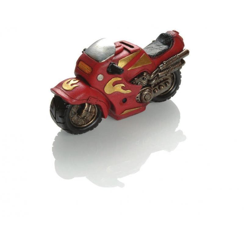 Tirelire Booster Motorbike 22cm rouge