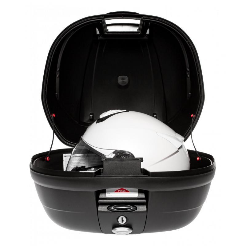 Top case Givi E370 monolock catadioptres fumés avec platine/kit fixation - 1