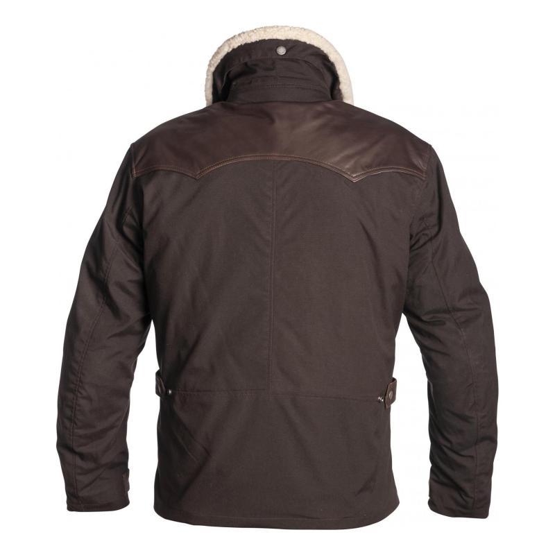 Veste cuir/textile Helstons Canada marron - 1