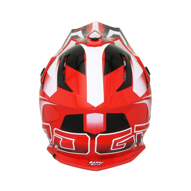 Casque cross Progrip 3180 rouge / blanc - 5