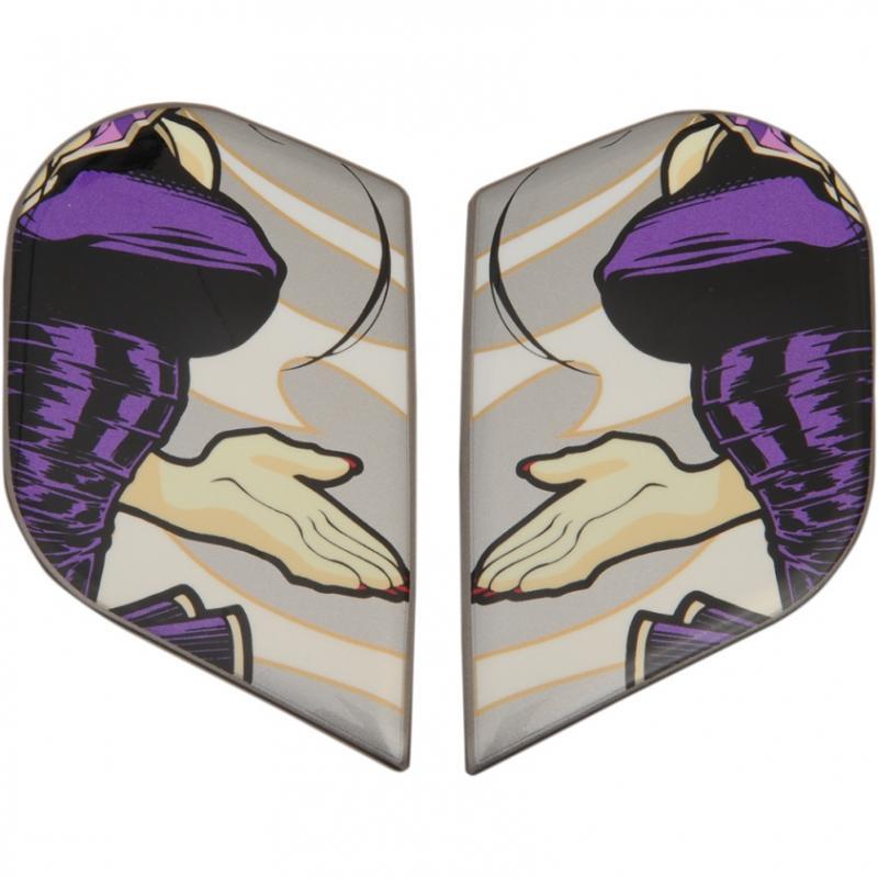 Plaques latérales Icon pour casque Alliance GT DC18 argent