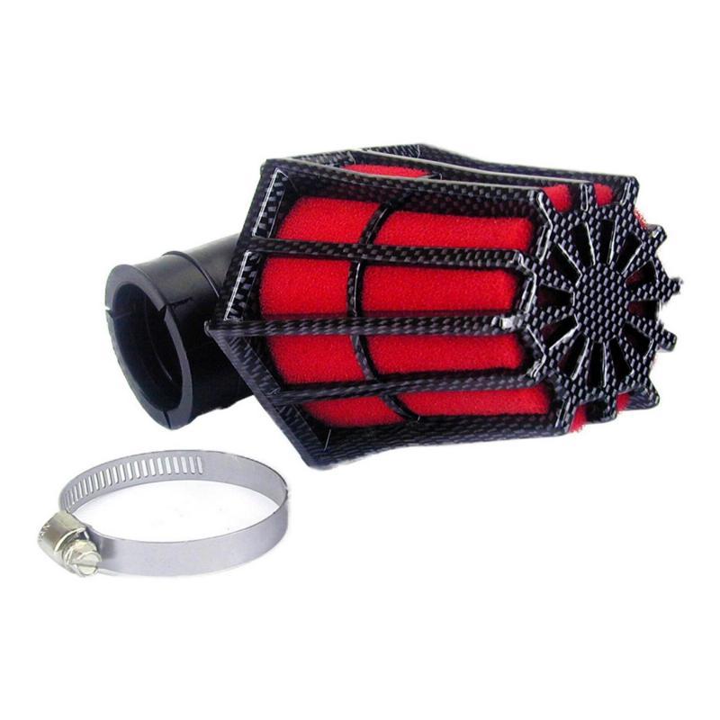 Filtre à air Hexagonal fixation à 90° D.28-35 mousse Rouge