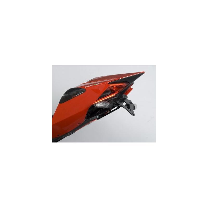 Support de plaque d'immatriculation R&G Racing noir Ducati Panigale 1299 15-17