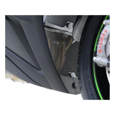 Grille de protection de collecteur R&G Racing verte Kawasaki ZX-10R 11-19