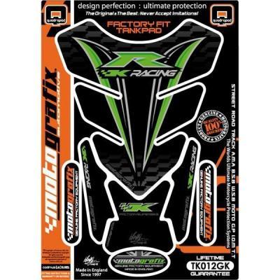 Protection de réservoir Motografix noir/vert Kawasaki 4 pièces