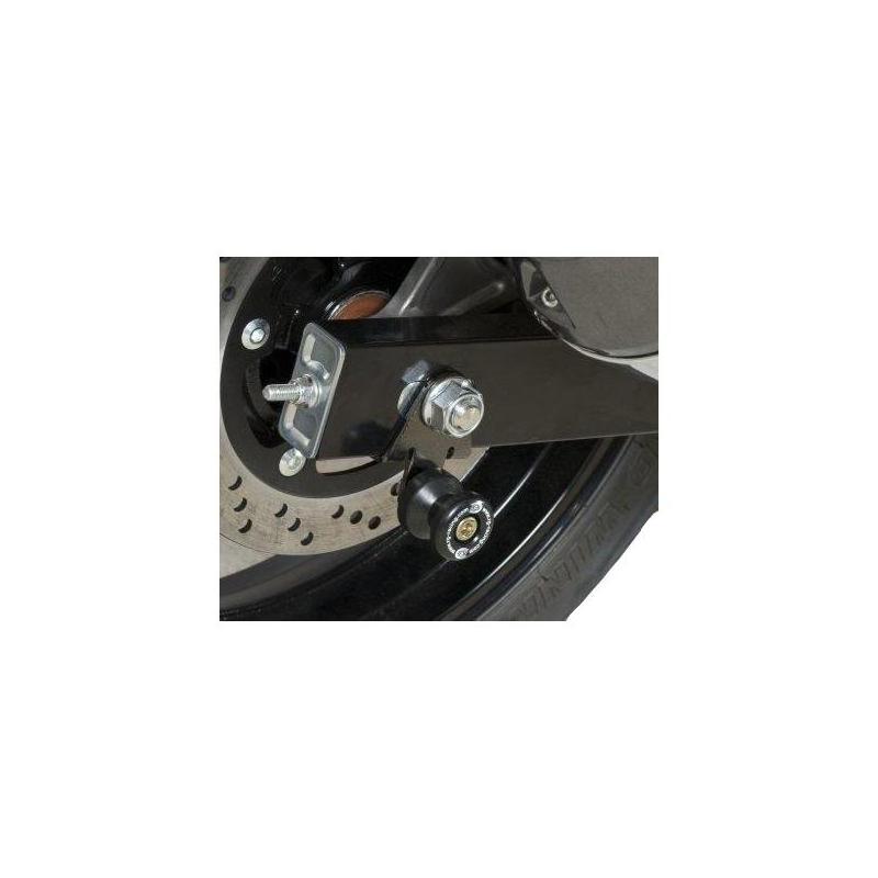 Diabolos de bras oscillant R&G Racing noir sur platine Triumph Thruxton 1200 16-18