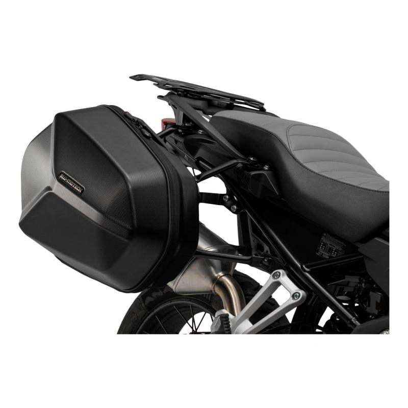 Valises latérale SW-Motech Aero ABS noires support EVO Honda CBF 500 04-06 - 1