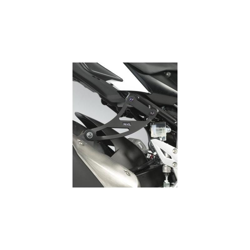 Patte de fixation de silencieux R&G Racing noire Suzuki GSR 750 11-17