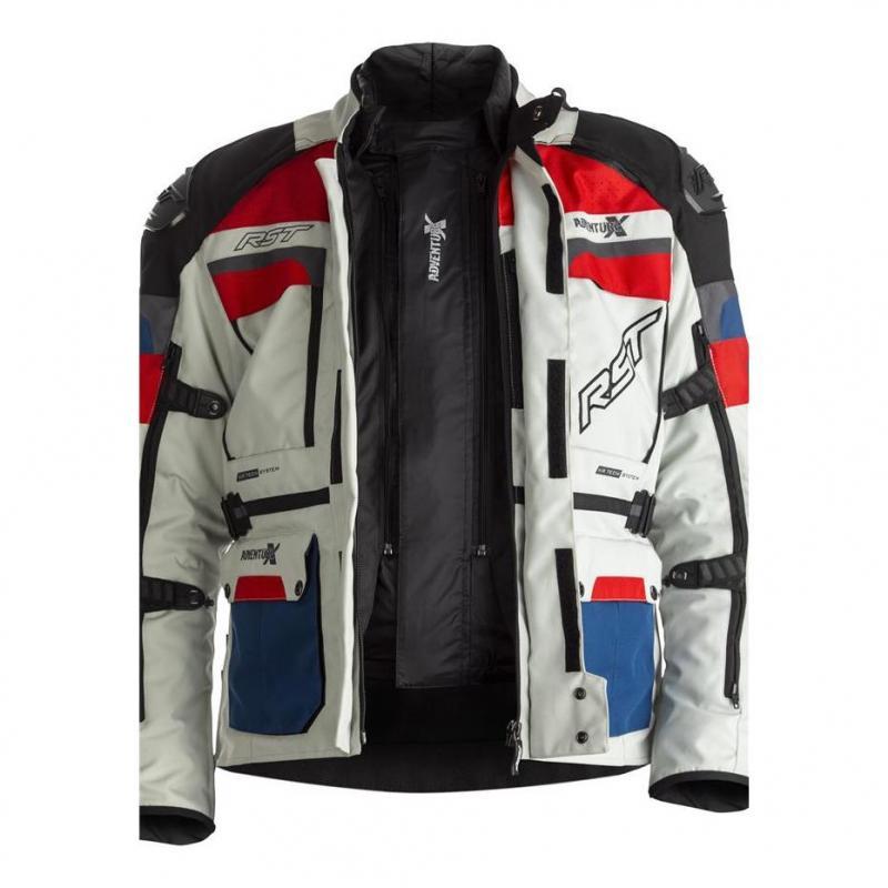 Veste textile RST Adventure-X Ice/bleu/rouge - 7