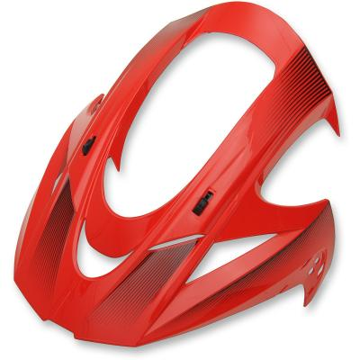 Casquette de casque Icon pour casque Variant Double Stack rouge