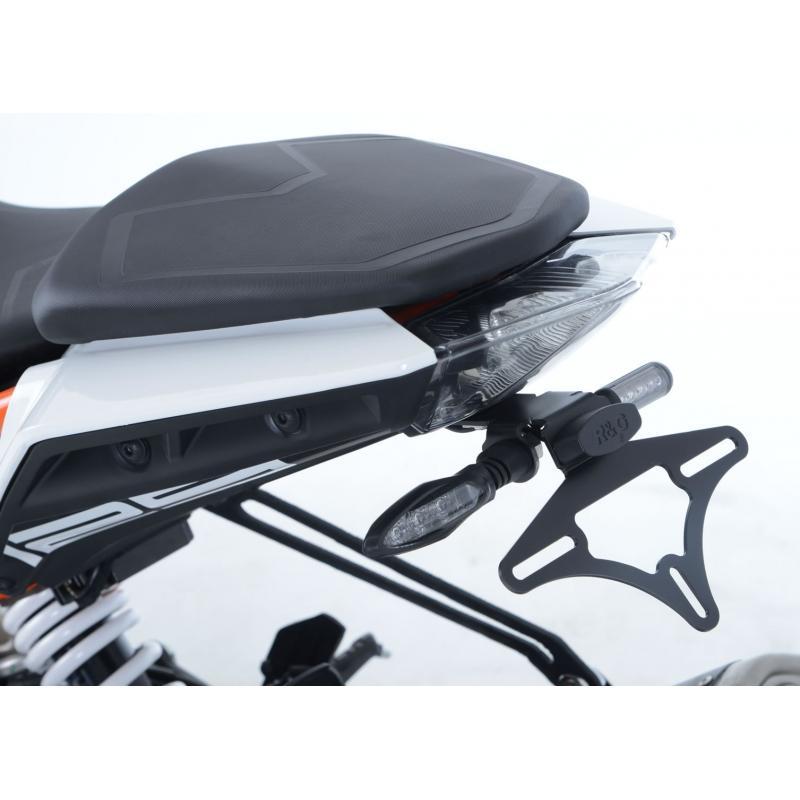 Support de plaque d'immatriculation R&G Racing noir KTM Duke 390 17-18 - 2