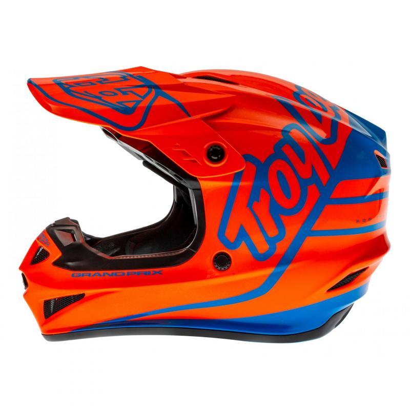 Casque cross Troy Lee Designs GP Silhouette orange/cyan - 1