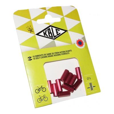 Embouts de gaine autobloquant frein Transfil Ø5mm rouge (10 pièces)
