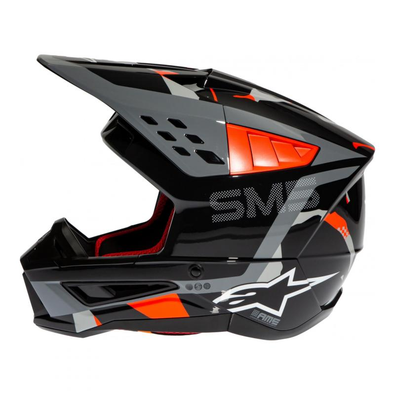 Casque cross Alpinestars S-M5 Rover anthracite/rouge fluo/gris camouflage brillant - 1