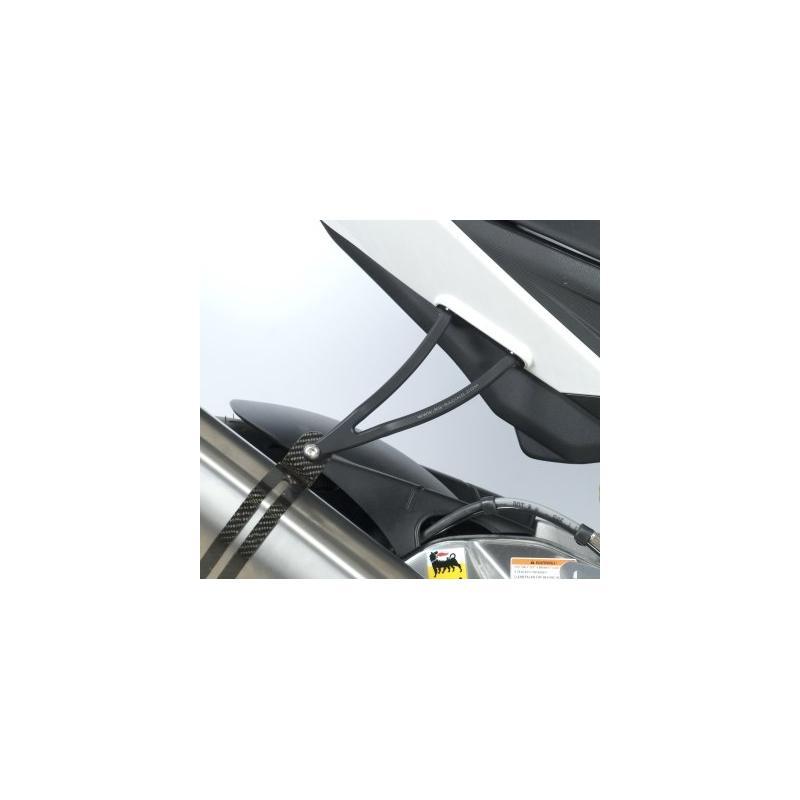 Patte de fixation de silencieux R&G Racing noire Aprilia Tuono V4 1100 15-18 - 1