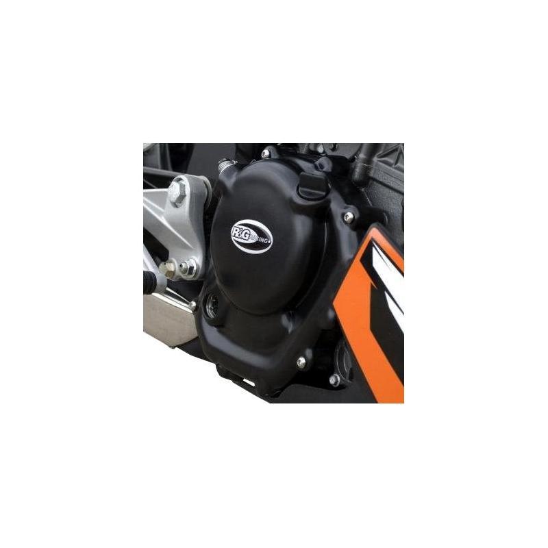 Couvre carter droit (embrayage) R&G Racing noir KTM 125 Duke 16-18