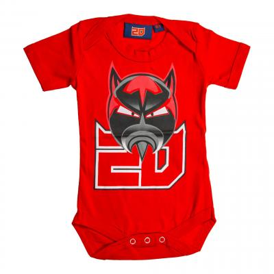 Body bébé Fabio Quatararo El Diablo 20 rouge