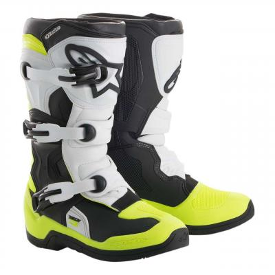 Bottes cross junior Alpinestars Tech 3S noir/blanc/jaune