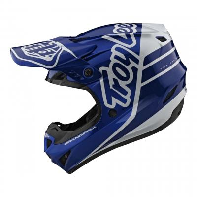 Casque cross Troy Lee Designs GP Silhouette navy/blanc