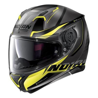 Casque intégral Nolan N87 Miles N-Com Mat Lava gris/jaune