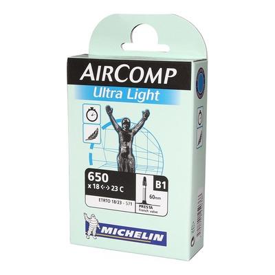 Chambre à air vélo Michelin AirComp Ultra Light 650 x 18/23 B1 Presta 60mm