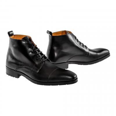 Chaussures moto Helstons Heritage noir ciré