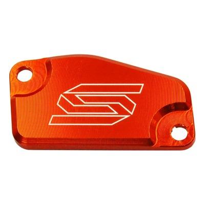 Couvercle de maître cylindre d'embrayage Scar aluminium anodisé orange pour KTM SX 85 13-16