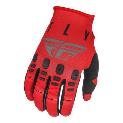 Gants cross enfant Fly Racing Kinetic K121 rouge/gris/noir