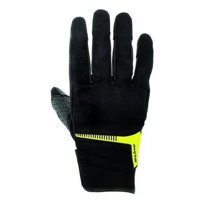 Gants textile S-Line pouce index tactiles noir/jaune
