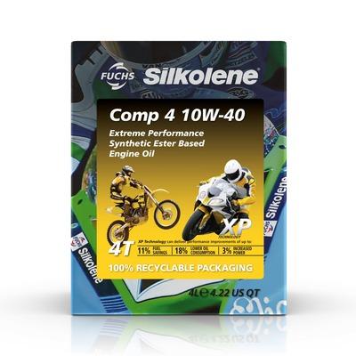 Huile moteur Silkolene Comp 4 10W40 XP 4 temps cube 4L