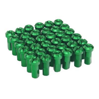 Kit têtes de rayon universel anodisées ART vert (36 pièces)