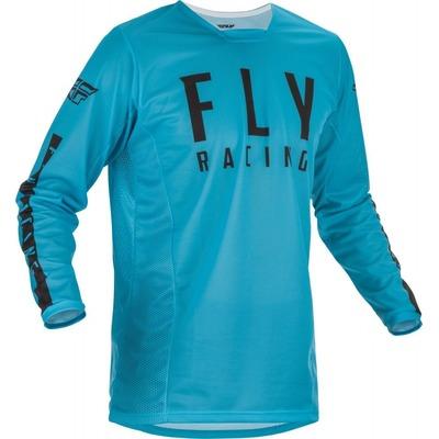 Maillot cross Fly Racing Kinetic Mesh bleu/noir