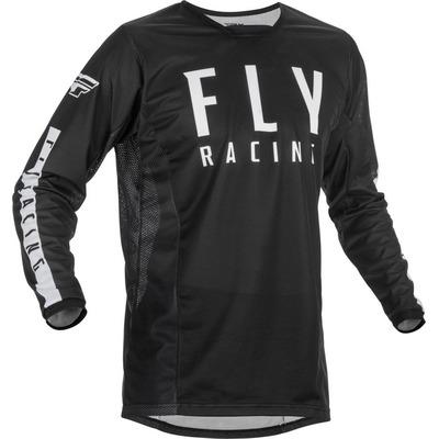 Maillot cross Fly Racing Kinetic Mesh noir/blanc