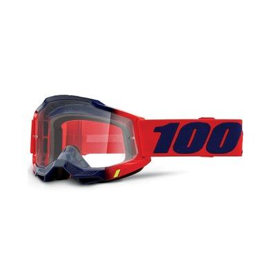 Masque cross 100% Accuri 2 Kearny rouge/bleu écran incolore