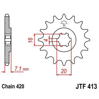Pignon JT Sprockets Acier pas 420 14 dents - Pour Suzuki RM 80 86-88