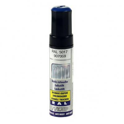 Pinceau retouche peinture Bleu signalisation brillant acrylique RAL 5017 Motip 12 ml M907009