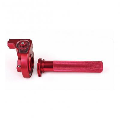 Poignée de gaz Noend tirage horloger alu rouge