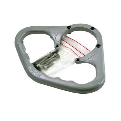 Poignée de réservoir A-SIDER argent pour Ducati 1198 09-13