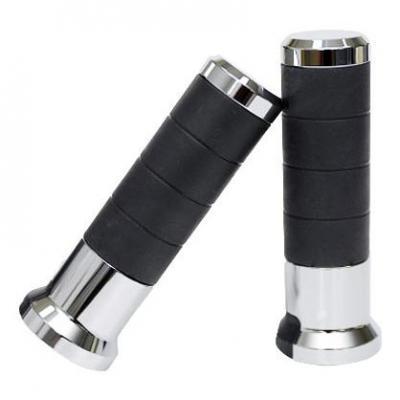 Poignées chauffantes Koso Titan L130mm pour guidon 22 mm chromées